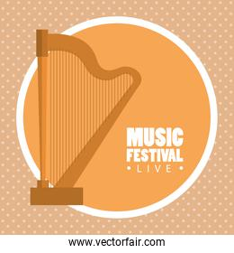 music festival live with harp
