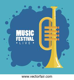 music festival live with trumpet