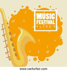 music festival live with saxophone