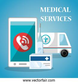 medical service on line with smartphone