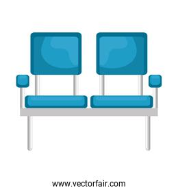 waiting room chairs icon