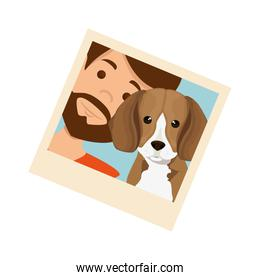 photo of man with dog