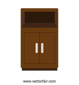 wooden shelving isolated icon