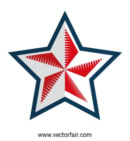 united states of america emblem,with star shape