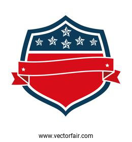 united states of america emblematic shield