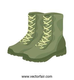 military boots equipment icon