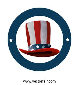 hat with united states of america flag