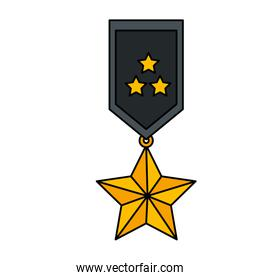 medal with stars award