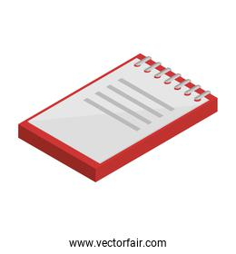 office notebook isometric icon