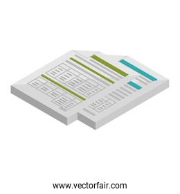 finance document paper icon