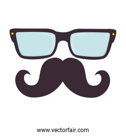 glasses and mustache hipster style