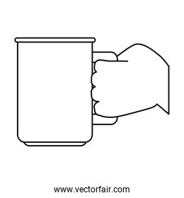 hand with coffee cup