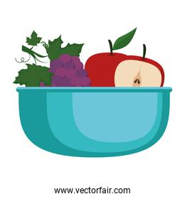 delicious set fruits in bowl healthy food