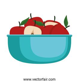fresh apples fruits in bowl