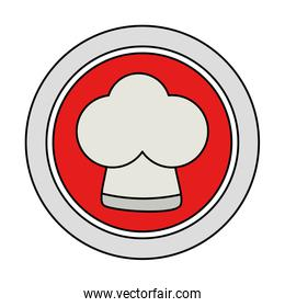 button with chef hat