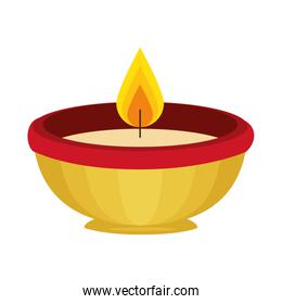 ceremonial candle isolated icon