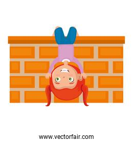 little girl playing in the wall character