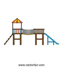 game with tower and slide