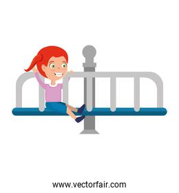 girl playing in park playground wheel icon
