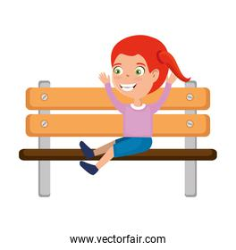 girl in the park wooden chair icon