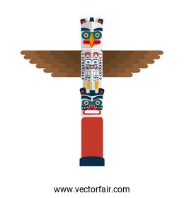 canadian wooden totem icon