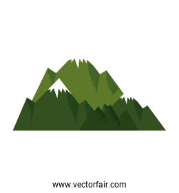 mountains with snow scene