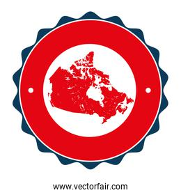 canadian map seal stamp