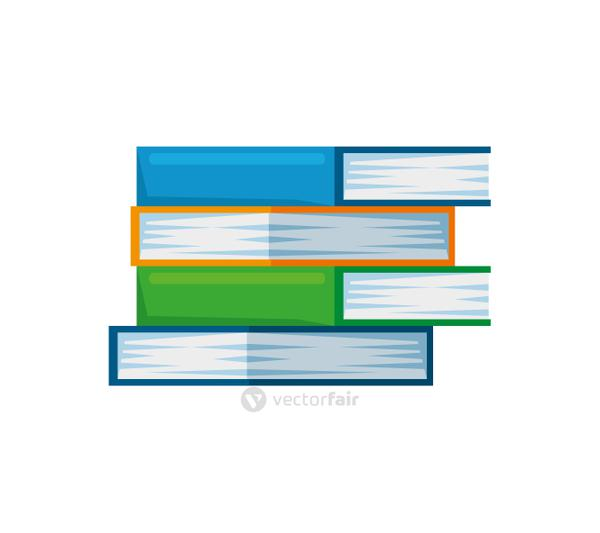 pile text books education icons