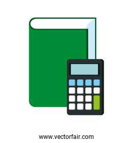 text book education with calculator