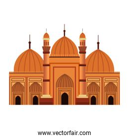 badshahi mosque building palace icon