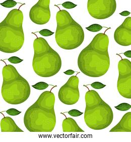 fresh pears fruits nature pattern