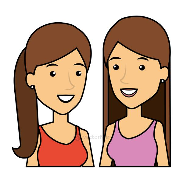 young girls friends avatars characters
