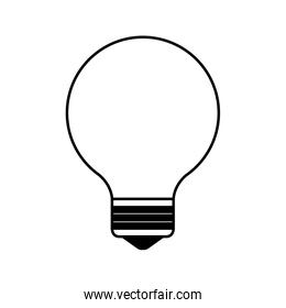 bulb light think idea icon