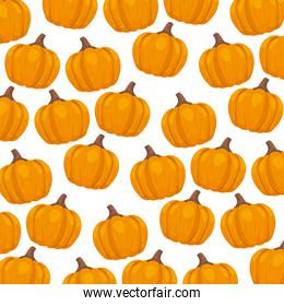 pattern of autumn with pumpkins