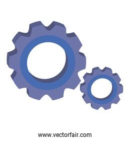 gears pinions machine isolated icon