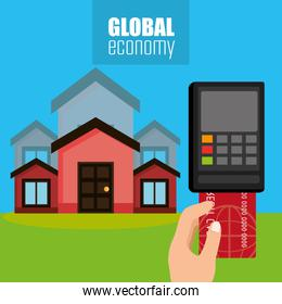 global economy with house