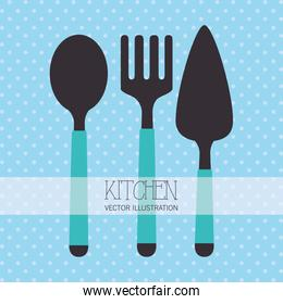 kitchen cutlery tools icon