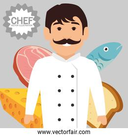 professional chef character icon