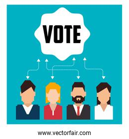 Vote and politician campaign