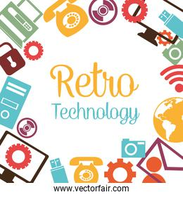 Vintage technology media design