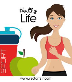 Healthy fitness lifestyle