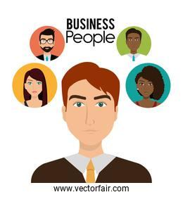 Office and business people