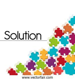 Business solutions icons design.