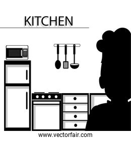 Kitchen utensils and equipment icon