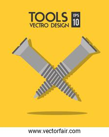 Construction repair tools graphic