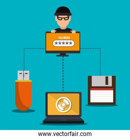 Security System and technologies graphic design