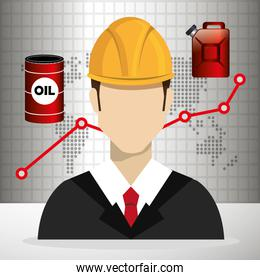 Petroleum and oil industry prices graphic design