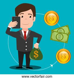 Money online payment graphic