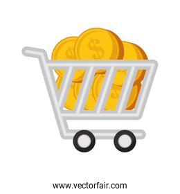 cart shopping commercial icon