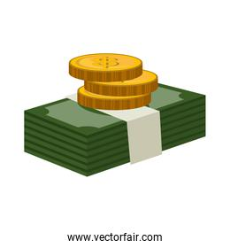 bills money pattern isolated icon